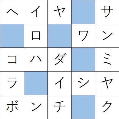 クロスワードde懸賞「No.381 日本の地形クロス」の答え