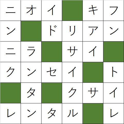 クロスワードパズル「Q117 くさいものには」の答え
