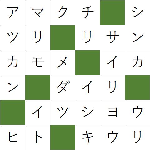 クロスワードパズル「Q136 日本酒はこれで呑みたい」の答え