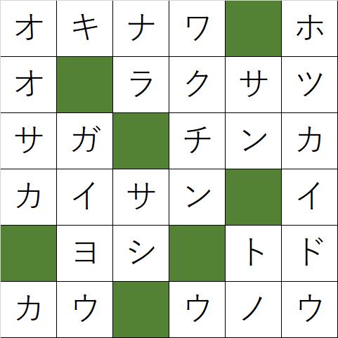 クロスワードパズル「Q140 都道府県のナンバー1!」の答え