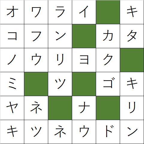 クロスワードパズル「Q87 食いだおれ大阪!」の答え