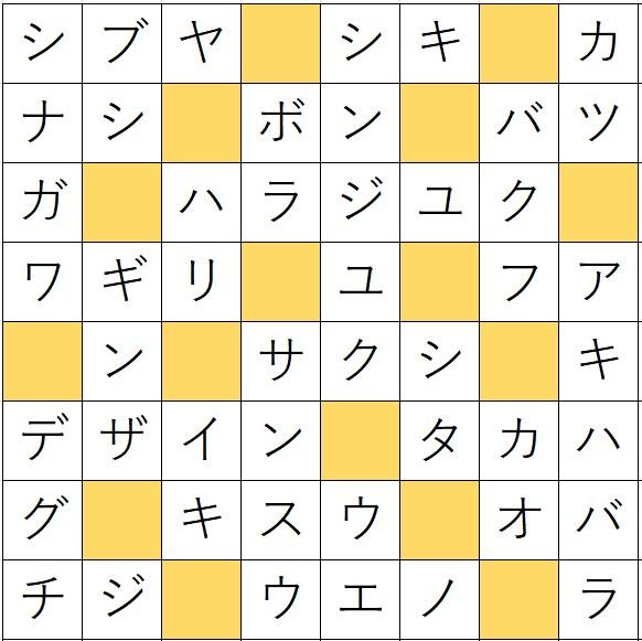 クロスワードde懸賞(クロス懸賞)「No.1363 東京の地名・3ヒントクロス」の答え